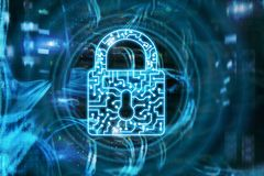 Cyber Security lock icon Information Privacy Data Protection internet and Technology concept. Cyber Security lock icon Information Privacy Data Protection royalty free stock images