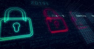 Free Cyber Security Loop Animation Stock Images - 126970444