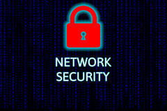 Cyber security network concept, network security. royalty free stock photography