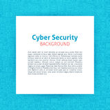 Cyber Security Paper Template. Vector Illustration of Paper over Outline Design Royalty Free Stock Photography