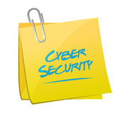 Cyber security post memo illustration Royalty Free Stock Photos