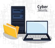 Cyber security technology file folder. Vector illustration eps 10 Stock Photography