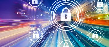 Cyber security theme with high speed motion blur royalty free illustration