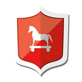 Cyber security troyan icon Royalty Free Stock Images