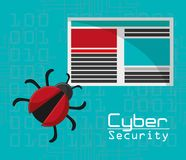 Cyber security virus threat document file. Vector illustration eps 10 Royalty Free Stock Images