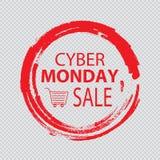 Cyber segunda-feira, conceito da venda do disconto ilustração royalty free