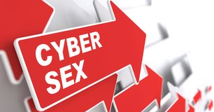 Cyber-Sex-Konzept. Lizenzfreie Stockfotografie