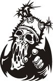 Cyber Skull. Stock Photography