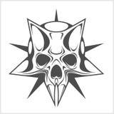 Cyber Skull in Star Stock Photo