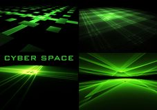 Cyber space backgrounds Royalty Free Stock Images