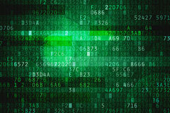 Cyber space. With hexadecimal code as digital background Stock Image