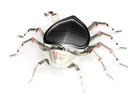 Cyber spider Royalty Free Stock Image