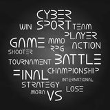 Cyber sport phrases Royalty Free Stock Image