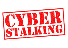 CYBER STALKING Stock Photo