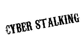 Cyber Stalking rubber stamp Royalty Free Stock Photos