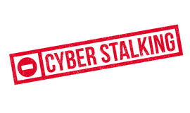 Cyber Stalking rubber stamp Stock Photos