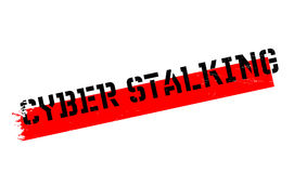 Cyber Stalking rubber stamp Stock Photography
