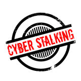Cyber Stalking rubber stamp Royalty Free Stock Image