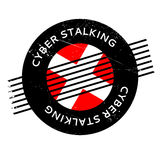 Cyber Stalking rubber stamp Stock Images