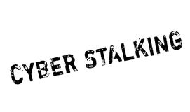 Cyber Stalking rubber stamp Stock Photo