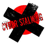 Cyber Stalking rubber stamp Royalty Free Stock Images