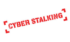 Cyber Stalking rubber stamp. Grunge design with dust scratches. Effects can be easily removed for a clean, crisp look. Color is easily changed Stock Photo