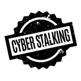 Cyber Stalking rubber stamp. Grunge design with dust scratches. Effects can be easily removed for a clean, crisp look. Color is easily changed Stock Image