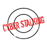Cyber Stalking rubber stamp. Grunge design with dust scratches. Effects can be easily removed for a clean, crisp look. Color is easily changed Royalty Free Stock Photo