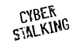 Cyber Stalking rubber stamp. Grunge design with dust scratches. Effects can be easily removed for a clean, crisp look. Color is easily changed Royalty Free Stock Photography