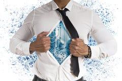 Cyber super hero. Concept of cyber super hero Stock Photos