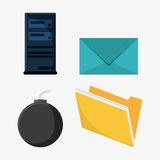 Cyber and System Security icon Royalty Free Stock Image