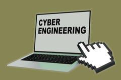 CYBER-TECHNIK-Konzept lizenzfreie abbildung