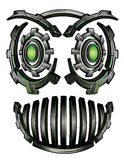 Cyber techno digital robot face design Royalty Free Stock Photos