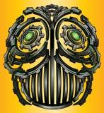 Cyber techno idustrial digital robot face design Stock Photo