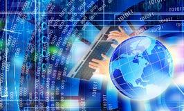 IT cyber technologie cyberspace Stock Foto's