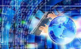 IT cyber technology.cyberspace Stock Photos