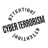 Cyber Terrorism rubber stamp Royalty Free Stock Image