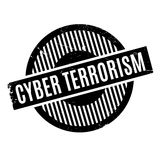 Cyber Terrorism rubber stamp Royalty Free Stock Photos