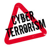 Cyber Terrorism rubber stamp Royalty Free Stock Photo