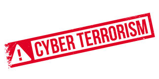 Cyber Terrorism rubber stamp Stock Photo