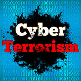 Cyber terroryzmu Binarny tło ilustracji