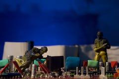 Cyber terroryzmu pojęcia komputeru bomba Zdjęcia Royalty Free