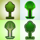 Cyber tree tags Royalty Free Stock Photo