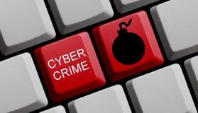 Cyber-Verbrechen on-line Stockfotografie