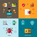Cyber Virus Set Stock Photography