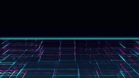 Cyber Vloeibaar maanlicht stock footage