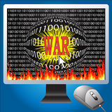 Cyber war Royalty Free Stock Photography