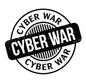 Cyber War rubber stamp. Grunge design with dust scratches. Effects can be easily removed for a clean, crisp look. Color is easily changed Royalty Free Stock Photos