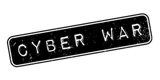 Cyber War rubber stamp. Grunge design with dust scratches. Effects can be easily removed for a clean, crisp look. Color is easily changed Royalty Free Stock Images