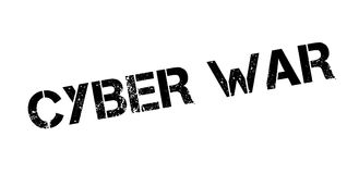 Cyber War rubber stamp. Grunge design with dust scratches. Effects can be easily removed for a clean, crisp look. Color is easily changed Stock Photos